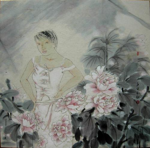 花朵 走近女工笔画家刘静